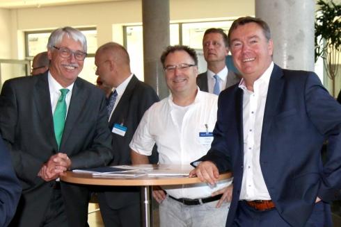 Bernd Weimer (BME), Erik Dachselt, Claus Kaminsky (OB Hanau)